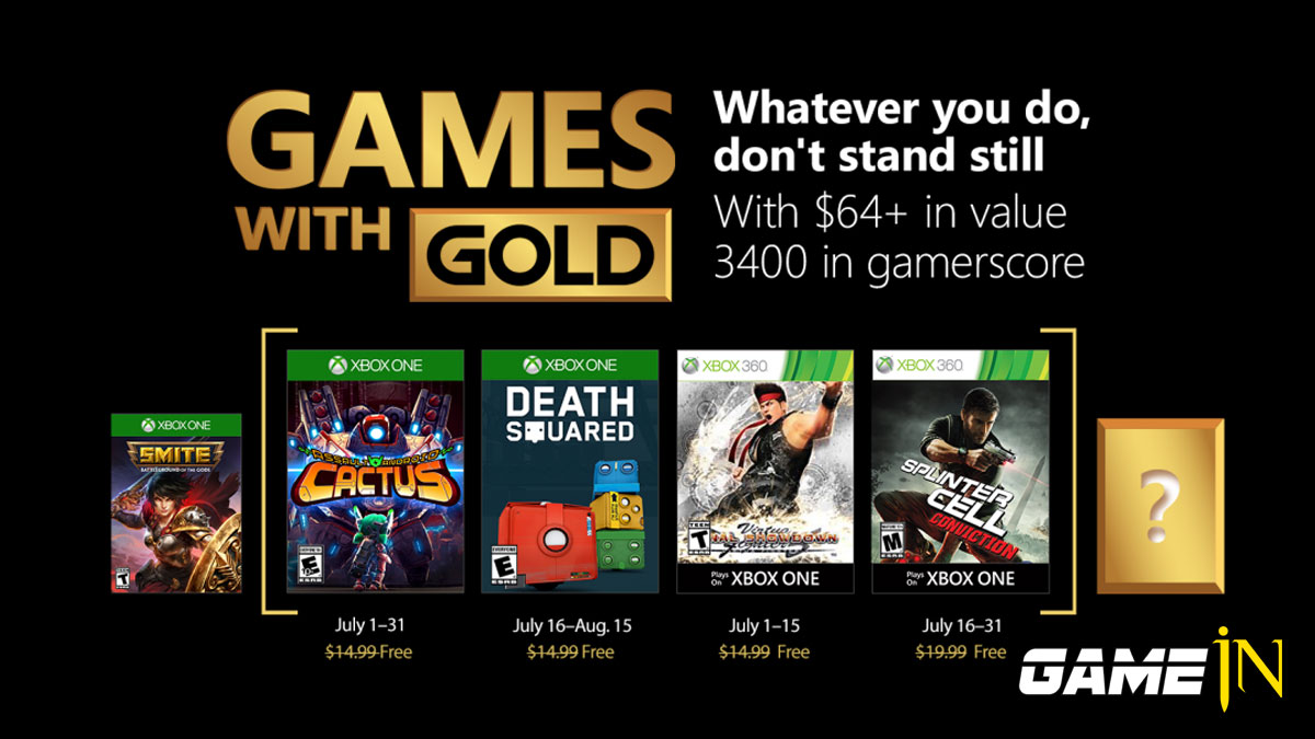 Xbox Live Gold maand juli 2018 Splinter Cell Conviction en Death Squared en meer ... Afbeelding 1