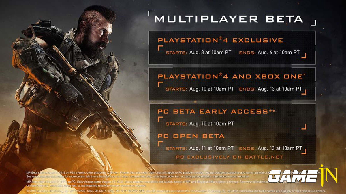 Call of Duty Black Ops 4 Multiplayer en Blackout beta's Afbeelding 1