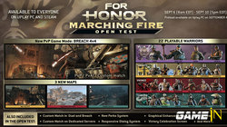 For Honor Marching Fire PC Open Test van 6 tot 10 september