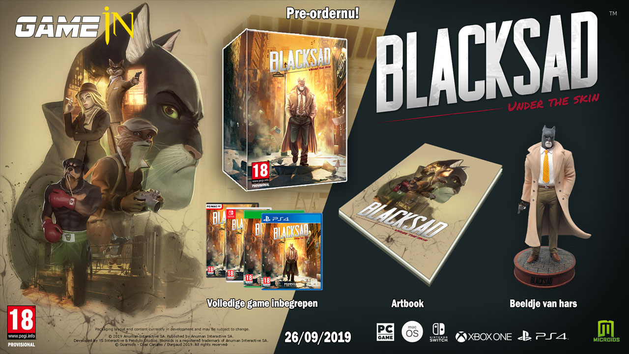 Ontrafel het mysterie van Blacksad Under the Skin vanaf 26 september 19 voor de PS4, Xbox One, Switch en PC Afbeelding 2