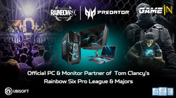 Acer Predator wordt sponsor Rainbow Six Siege Pro League en Majors