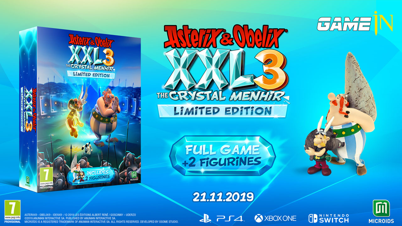 Asterix & Obelix XXL 3 The Crystal Menhir verschijnt op 21 november voor PS4, Xbox One, Switch en PC Afbeelding 7