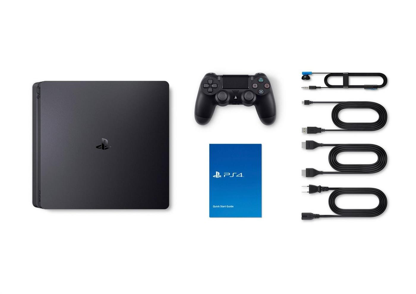Sony Playstation 4 Console (Slim) 500 GB Zwart + Fortnite Foto 8