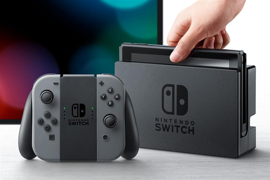 Nintendo Switch 32gb Spelcomputer Console (Grijs) Foto 2