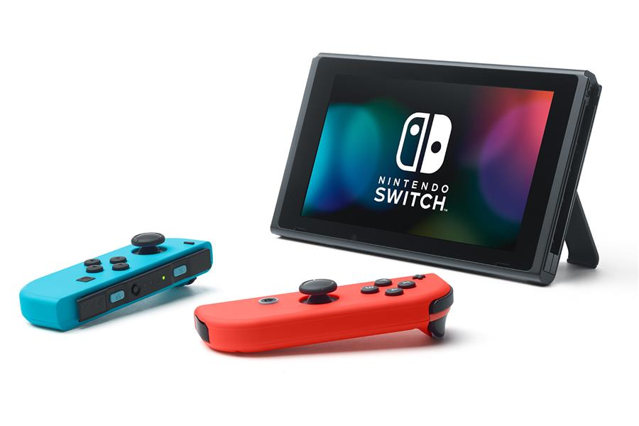 Nintendo Switch 32gb Spelcomputer Console (Rood Blauw) Foto 2