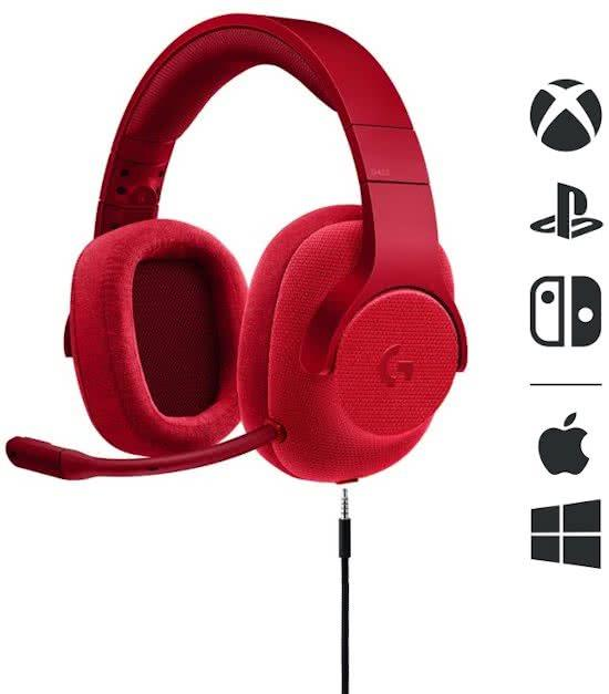 Gaming Headset G433 7.1 Surround Gaming Logitech Rood (PS4 + Xbox One + PC + Android + Switch) Foto 2