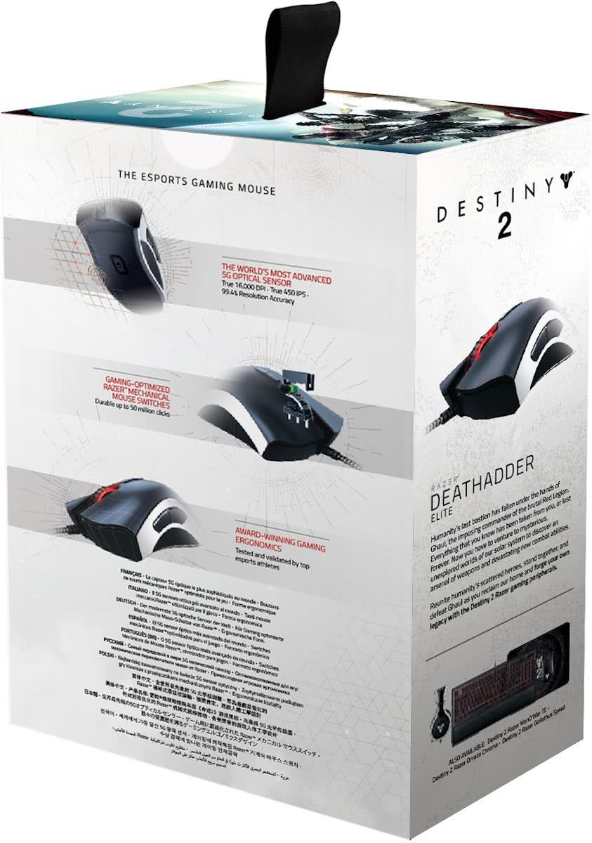 Gaming Muis Razer Deathadder Elite Destiny 2 Edition PC Foto 7