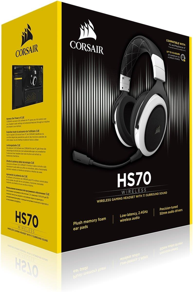Corsair HS70 Surround Draadloze Gaming Headset Wit Foto 6