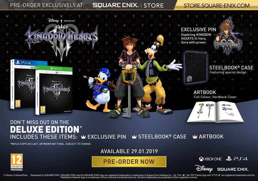 Kingdom Hearts 3 (III) (Deluxe Edition) Playstation 4 Foto 2