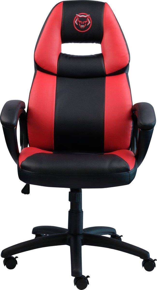 Qware Gaming Stoel Seat Seat Castor Carbon look Rood Foto 2