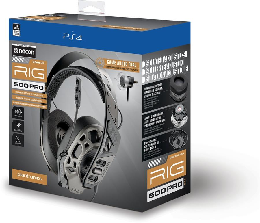 Plantronics RIG 500 Pro HS Nacon Edition Gaming Headset (PS4 + Xbox One + Switch + PC) Foto 7
