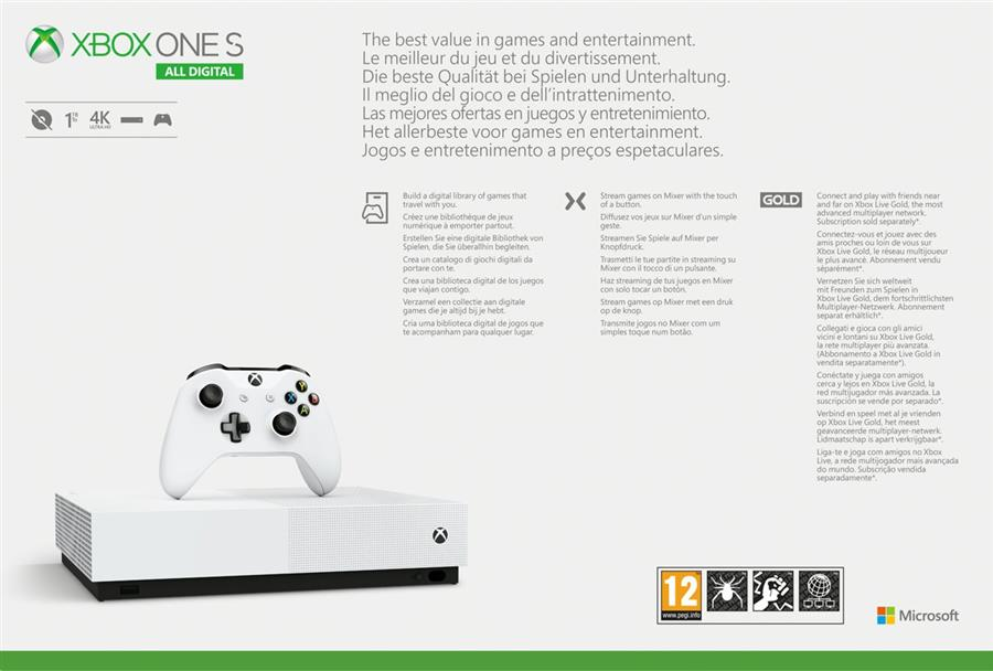 Microsoft Xbox One S  All-Digital Edition Console Wit (1 TB) + Minecraft + Sea of Thieves + Forza Horizon 3 Foto 3