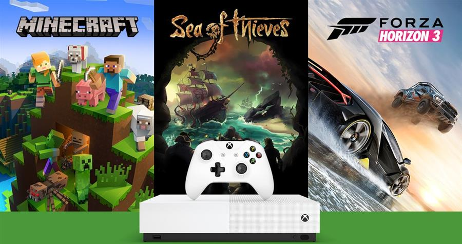 Microsoft Xbox One S  All-Digital Edition Console Wit (1 TB) + Minecraft + Sea of Thieves + Forza Horizon 3 Foto 6