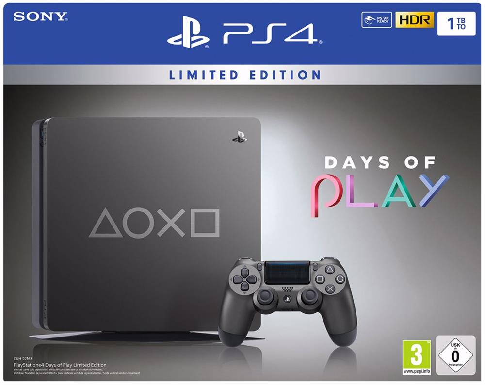 Sony Playstation 4 Console 1 TB Slim (Metal Grey) Days of Play Limited Edition Foto 6