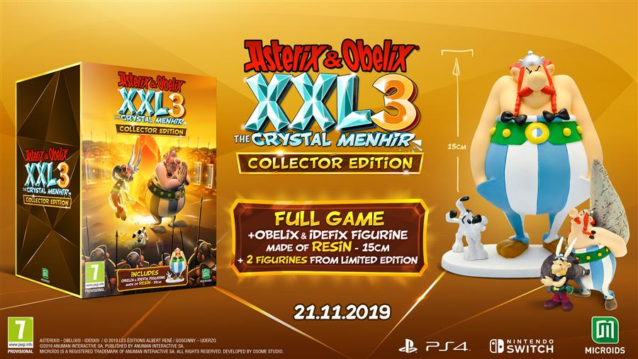 Asterix & Obelix XXL 3 The Crystal Menhir (Collector's Edition) Playstation 4 Foto 2