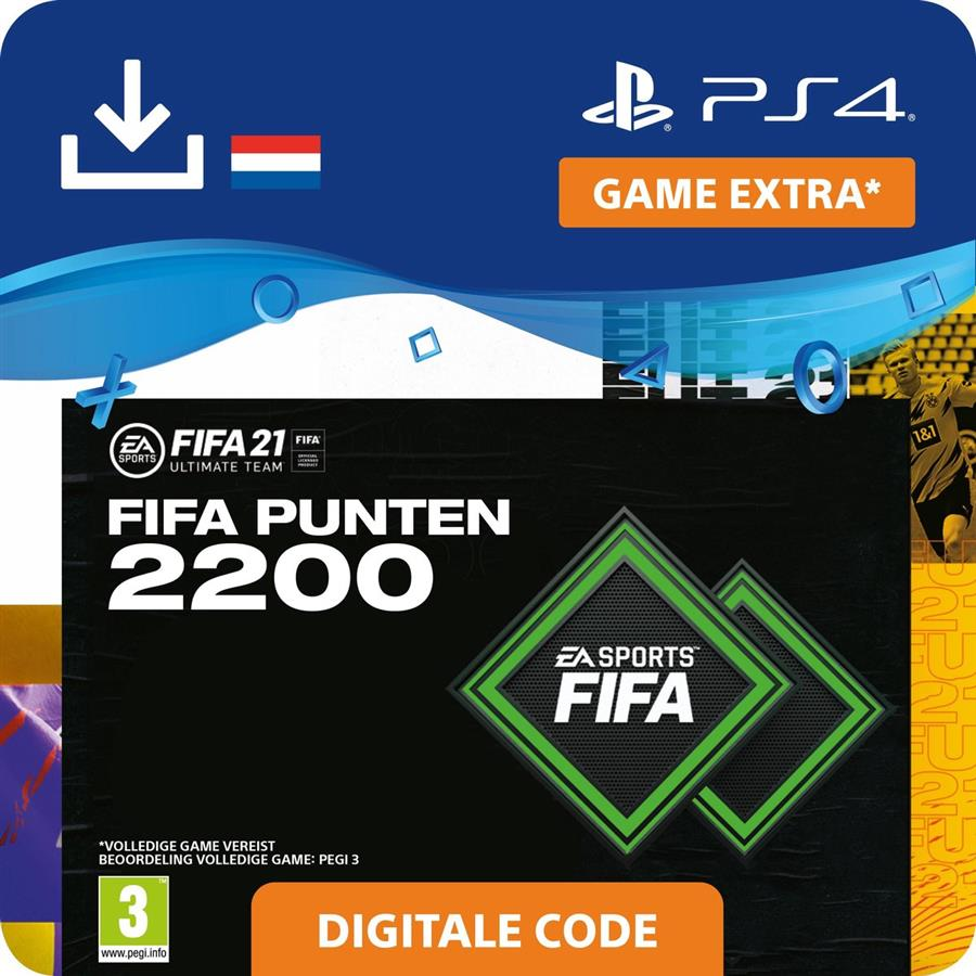 Fifa 21 - 2.200 Fifa Punten FUT (Digitaal Download) Playstation 4