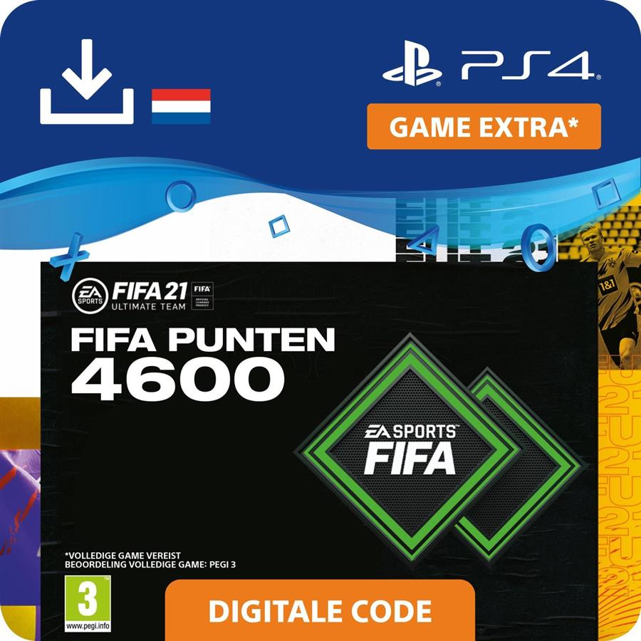 Fifa 21 - 4.600 Fifa Punten FUT (Digitaal Download) Playstation 4