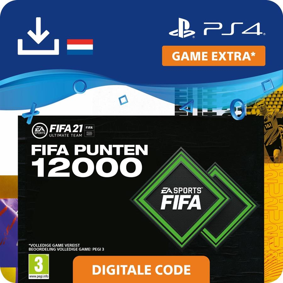 Fifa 21 - 12.000 Fifa Punten FUT (Digitaal Download) Playstation 4