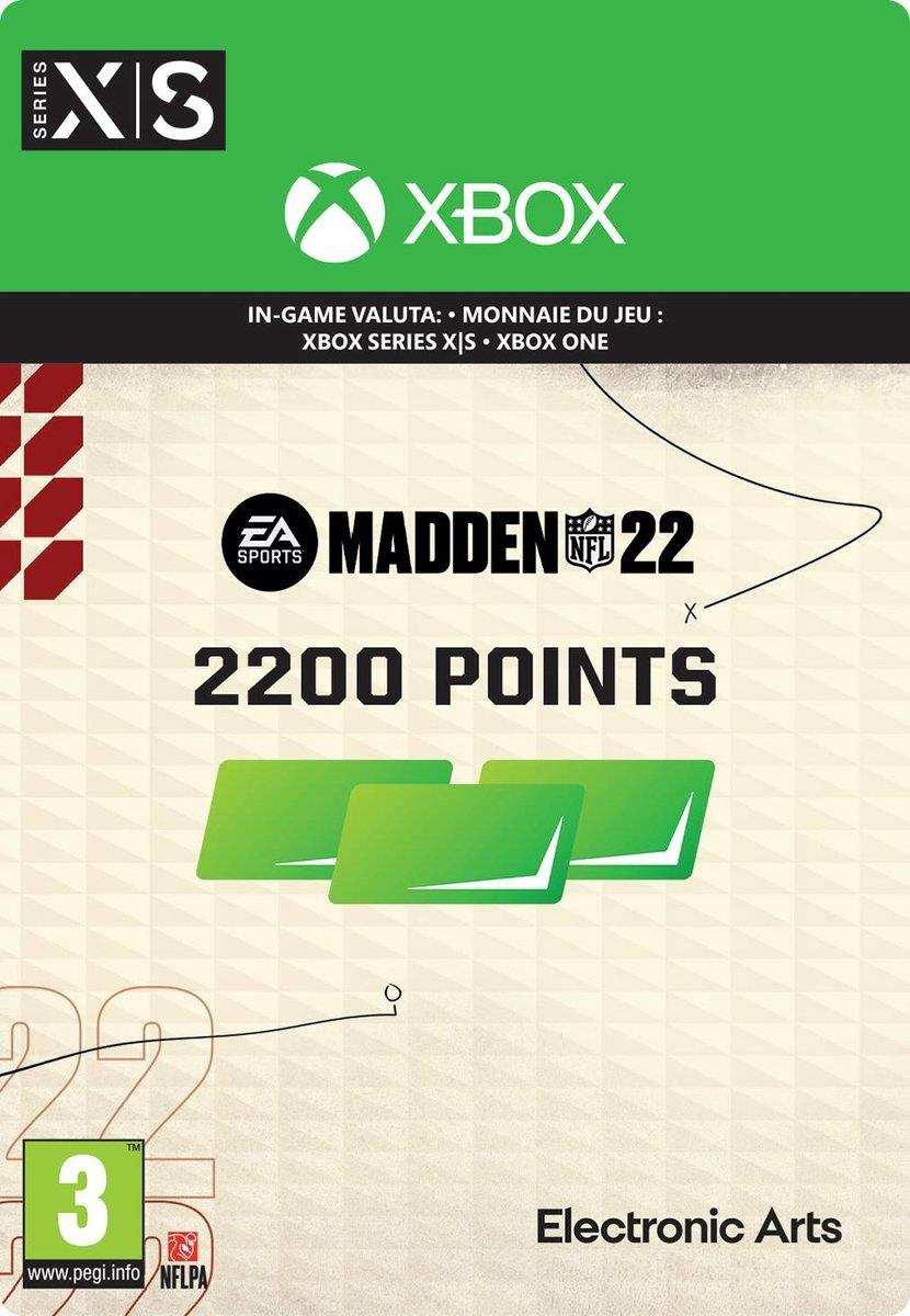 Madden NFL 22 - 2.200 Madden Points Pack (Download) Xbox One / Series X|S