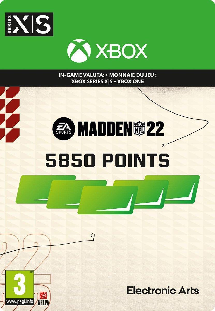 Madden NFL 22 - 5.850 Madden Points Pack (Download) Xbox One / Series X|S