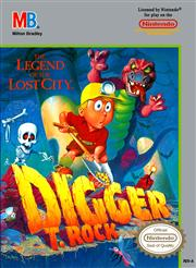 Digger T. Rock Legend of the Lost City NES