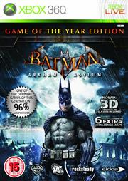 Batman Arkham Asylum Game of the Year Edition Xbox 360