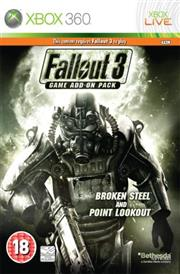 Fallout 3 Broken Steel and Point Lookout Xbox 360