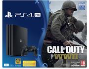 Sony Playstation 4 Console (PRO 1 TB) Zwart + Call of Duty WWII