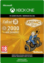 Fallout 76 2.000 +400 Bonus Atoms (Digitaal Code) Xbox One