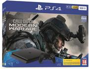 Sony Playstation 4 500 GB (Slim) Zwart Set Pack + Call of Duty Modern Warfare